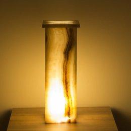Square Lampe Aus Onyx Höhe 55 cm