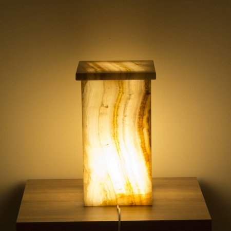 Square Lamp Onyx Hoogte 41 cm