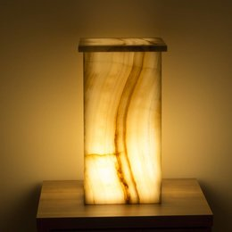 Square Lamp Onyx Height 52 cm