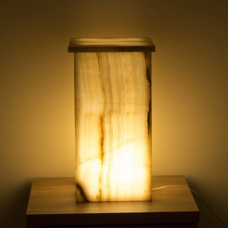 Square Lamp Onyx Hoogte 52 cm