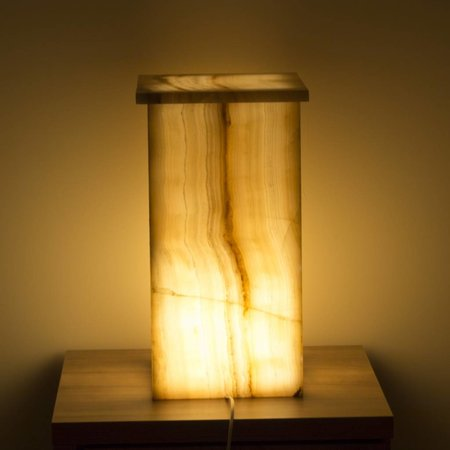 Square Lampe Aus Onyx Höhe 52 cm