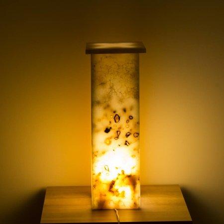 Square Lampe Aus Onyx Höhe 62 cm