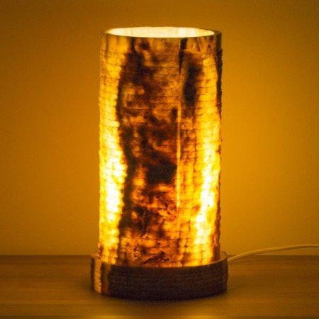 Zylinder Lampe aus Onyx