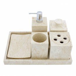 6-piece marble bath set Vania