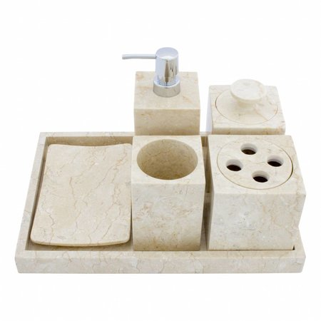 6-piece marble bath set Vania