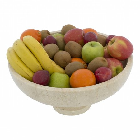 Cream Marble Fruit Bowl with foot Ø 40cm