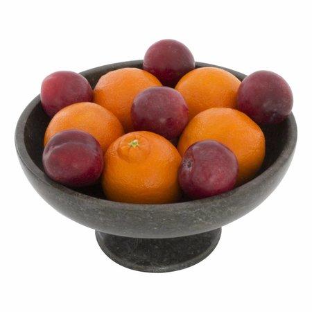 Fruitschaal van Zwart Marmer Klein