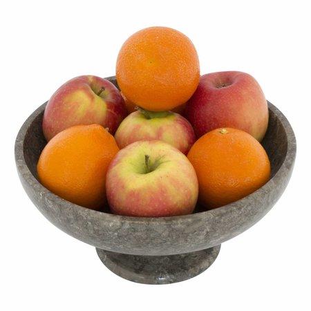 Obstschale mit Fuß aus Grauem Marmor 25 cm