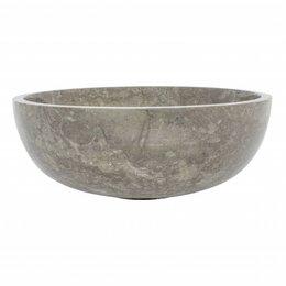 Große Obstschale aus Grauem Marmor 40 cm
