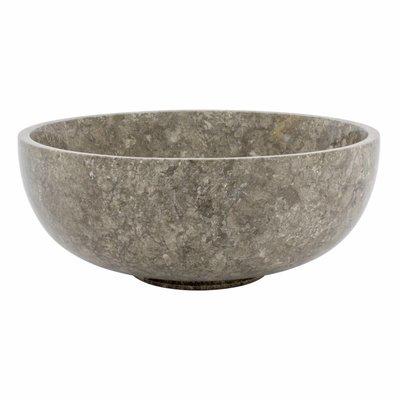 Obstschale aus Grauem Marmor 25 cm