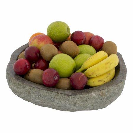 Grote Fruitschaal van Riviersteen 40 cm