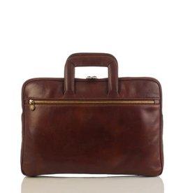 laptop tas, leren tas, zakelijke tas  Anton (licht bruin)