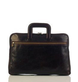 laptop tas, leren tas, zakelijke tas  Anton (donker bruin)