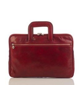 laptop tas, leren tas, zakelijke tas  Anton (rood)