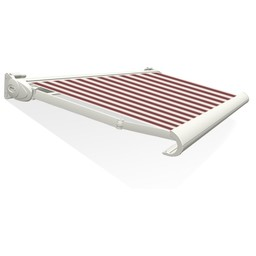 Tibelly Zonneschermdoek T511 Blok traditioneel Bordeaux - Creme