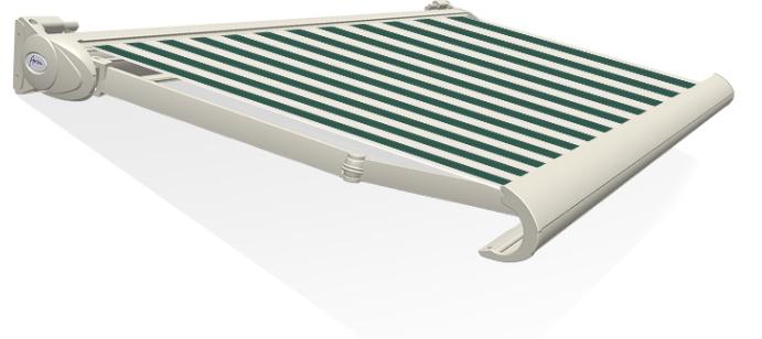 Tibelly Zonneschermdoek T517 Blok traditioneel Groen - Creme