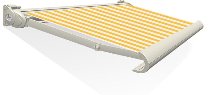 Tibelly Zonneschermdoek T501 Blok traditioneel Geel - Wit