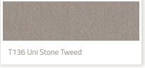 Tibelly Zonneschermdoek T136 Uni Stone Tweed