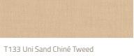 Tibelly Zonneschermdoek T133 uni sand chine tweed