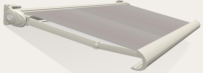 Tibelly Zonneschermdoek T138 Uni licht grijs chine