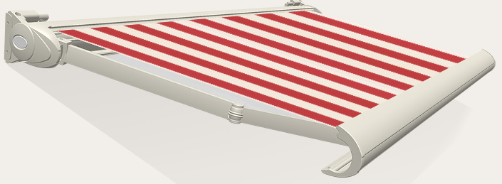 Tibelly Zonneschermdoek T156 Blok 15 cm Rood/Creme