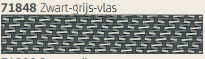 Hylas Screendoek Serge 71848B Zwart-grijs-vlas