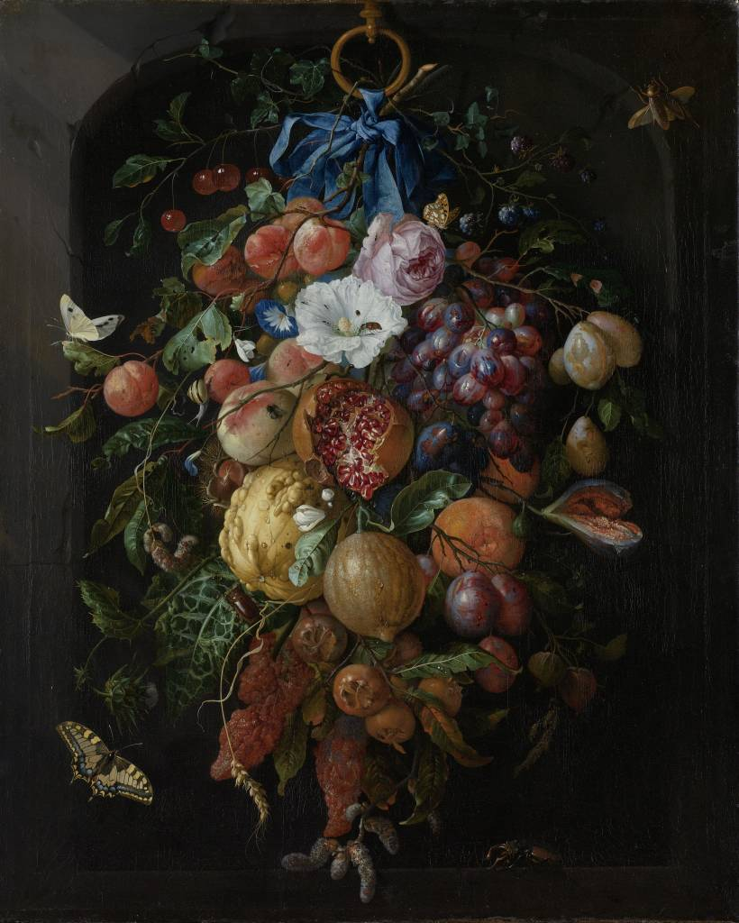 Rijksmuseum Festoen van vruchten en bloemen, Jan Davidsz. de Heem, 1660 - 1670