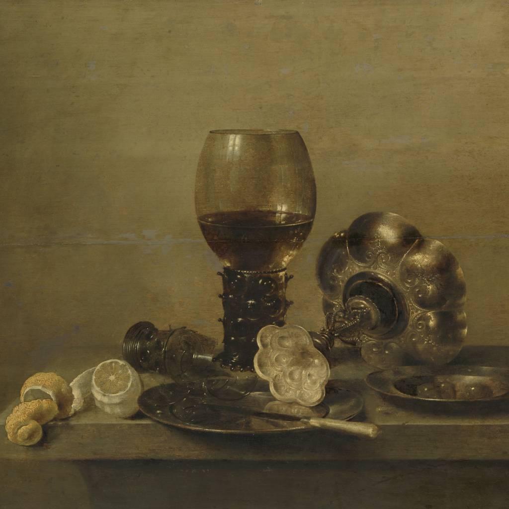 Rijksmuseum Stilleven met een gebroken glas, Willem Claesz. Heda, 1642