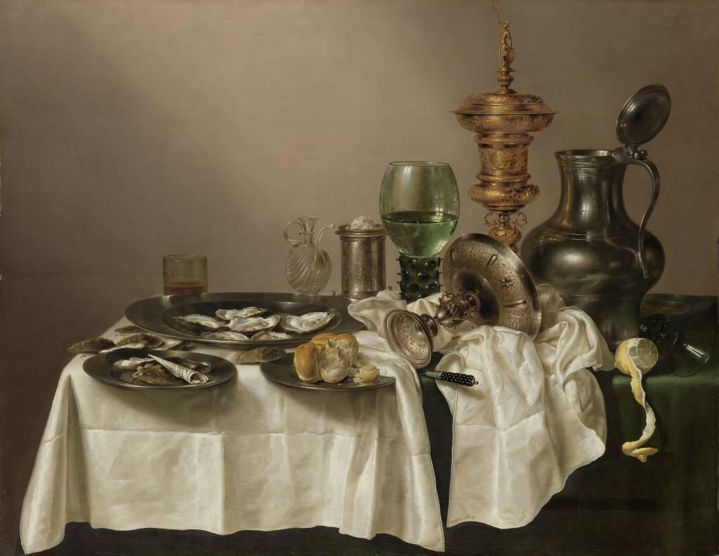 Rijksmuseum Stilleven met vergulde bokaal, Willem Claesz. Heda, 1635