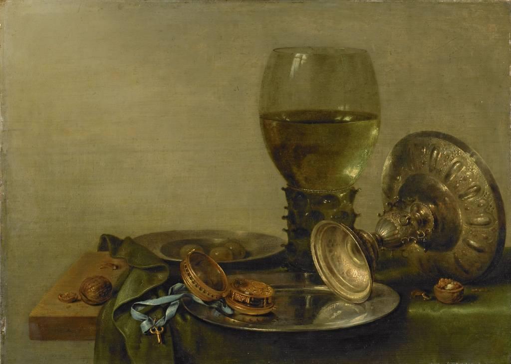 Rijksmuseum Stilleven met een zilveren tazza, Willem Claesz. Heda, 1630