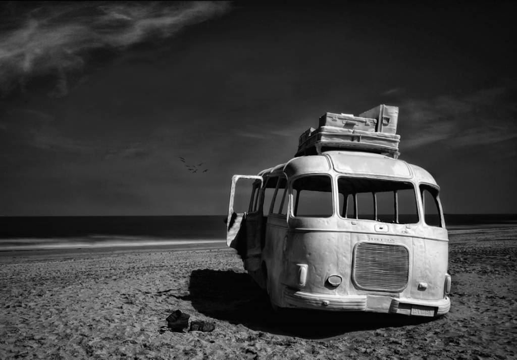 Umo Art Gallery Beached Bus