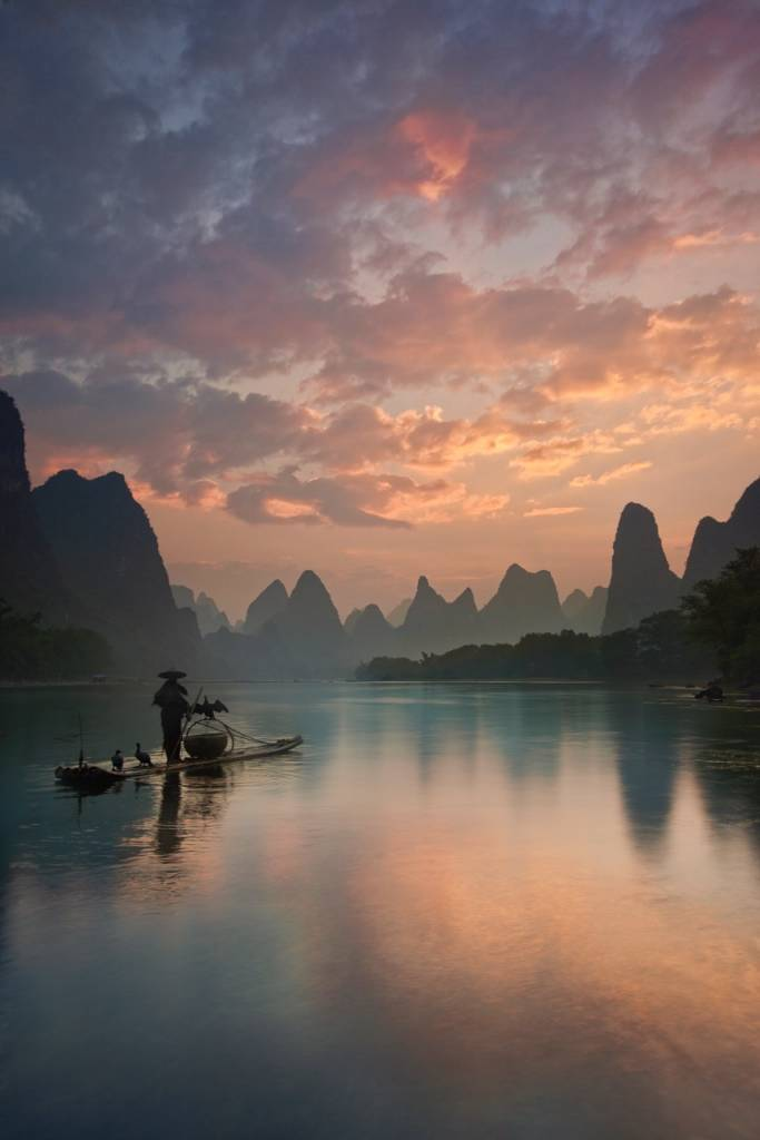 Umo Art Gallery Li River Sunrise