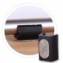 Glijder UNI-XL met vilt voor buisframes