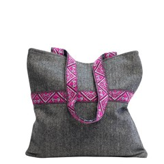 TWEED SHOPPER CELINE grau