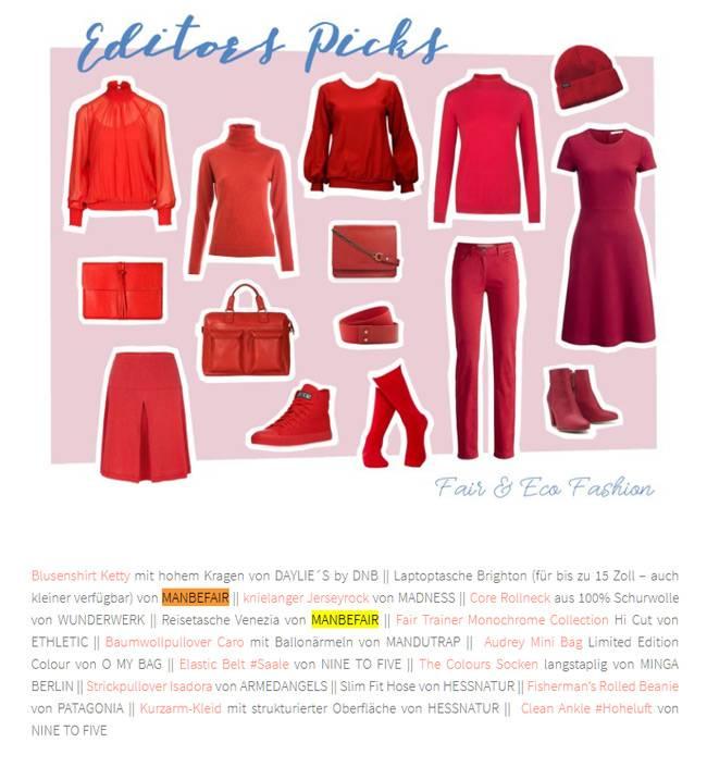 trendfarbe herbst rot fair trade ko taschen rucks cke bei. Black Bedroom Furniture Sets. Home Design Ideas