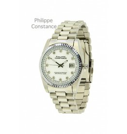 Philippe Constance Horloge Large Silver Serrated White
