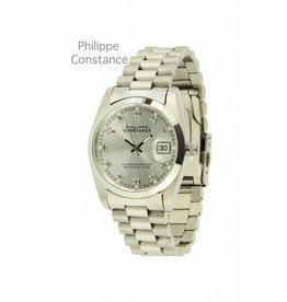 Philippe Constance Horloge Large Silver Stones Silver