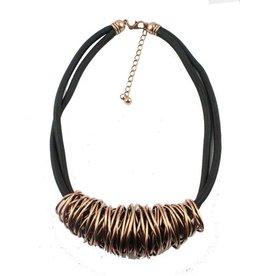 Fashion Jewelry Koord ketting Paris - Koper/Rosé