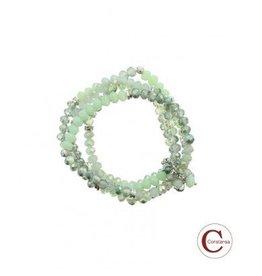 Constansa Plus Size kralen Armband Mint