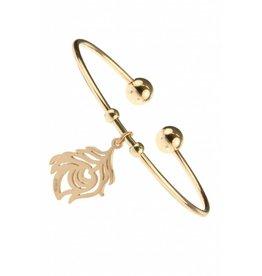 Fashion Jewelry RVS Armband Flower - Rose