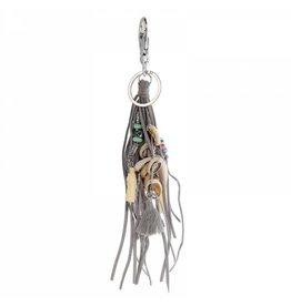 Yehwang Key Ring of tashanger met schelpen en kwastje