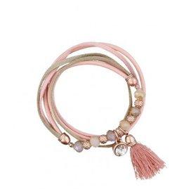 A-Zone Armband Leder Pink Rose