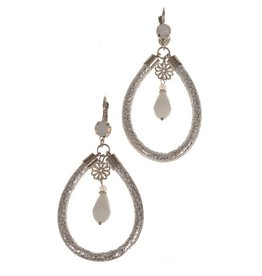 Fashion Jewelry Oorhangers Nature White-Silver