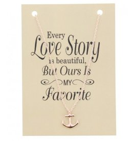 Fashion Jewelry KK-C-E15.1 Kaartketting Love Story CHAIN ANCHOR Rose Gold