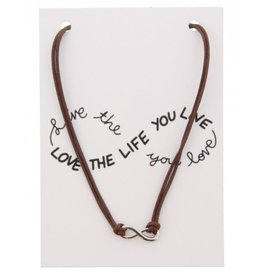Fashion Jewelry KK-C-D15.2 Kaartketting Love The Life INFINITY Brown