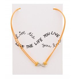 Fashion Jewelry KK-C-C5.2 Kaartketting Love The Life INFINITY Orange