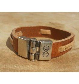 B & L Lederen armband Brown  BL4398