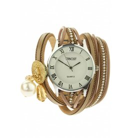 Ernest Horloge Armband Bliss Taupe Silver/Gold 2