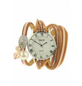 Ernest Horloge Armband Bliss Beige Silver Nude 2