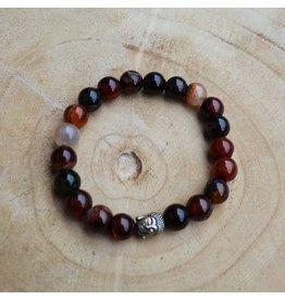 Sazou Jewels Armband Natural Stones VUUR AGAAT - 10 mm